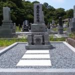 墓石工事完了しました(加賀市中央霊園にて)