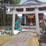 神社の改修工事です(山中温泉区内にて)