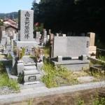 墓所清掃です(加賀市上野町にて)