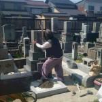 お墓の移転工事中です(加賀市大聖寺にて)