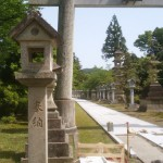 参道、記念碑の工事です(加賀市山中温泉にて)