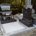 墓石工事完了しました(加賀市別所町墓地にて)