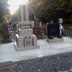 新規墓石建立しました(加賀市上野町墓地にて)